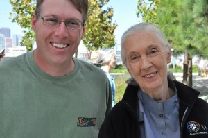 Scott with Dr. Jane Goodall (2009)