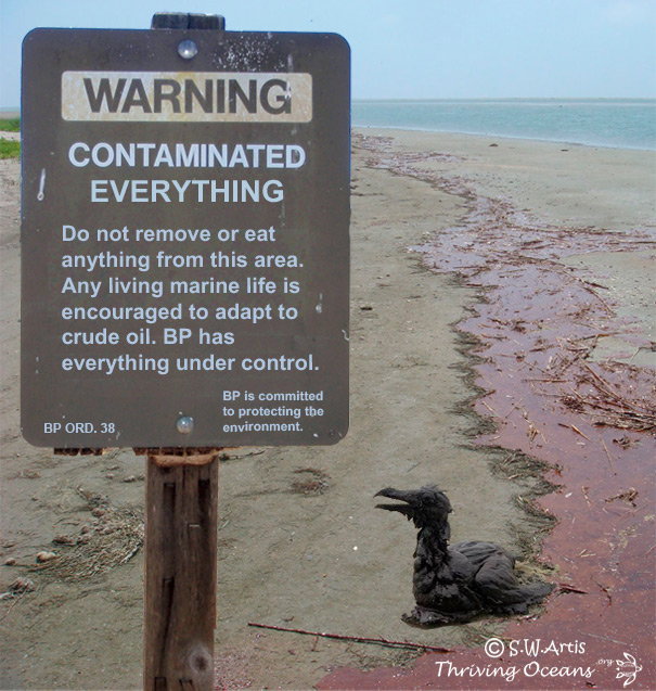 BP Oil Spill Warning Sign